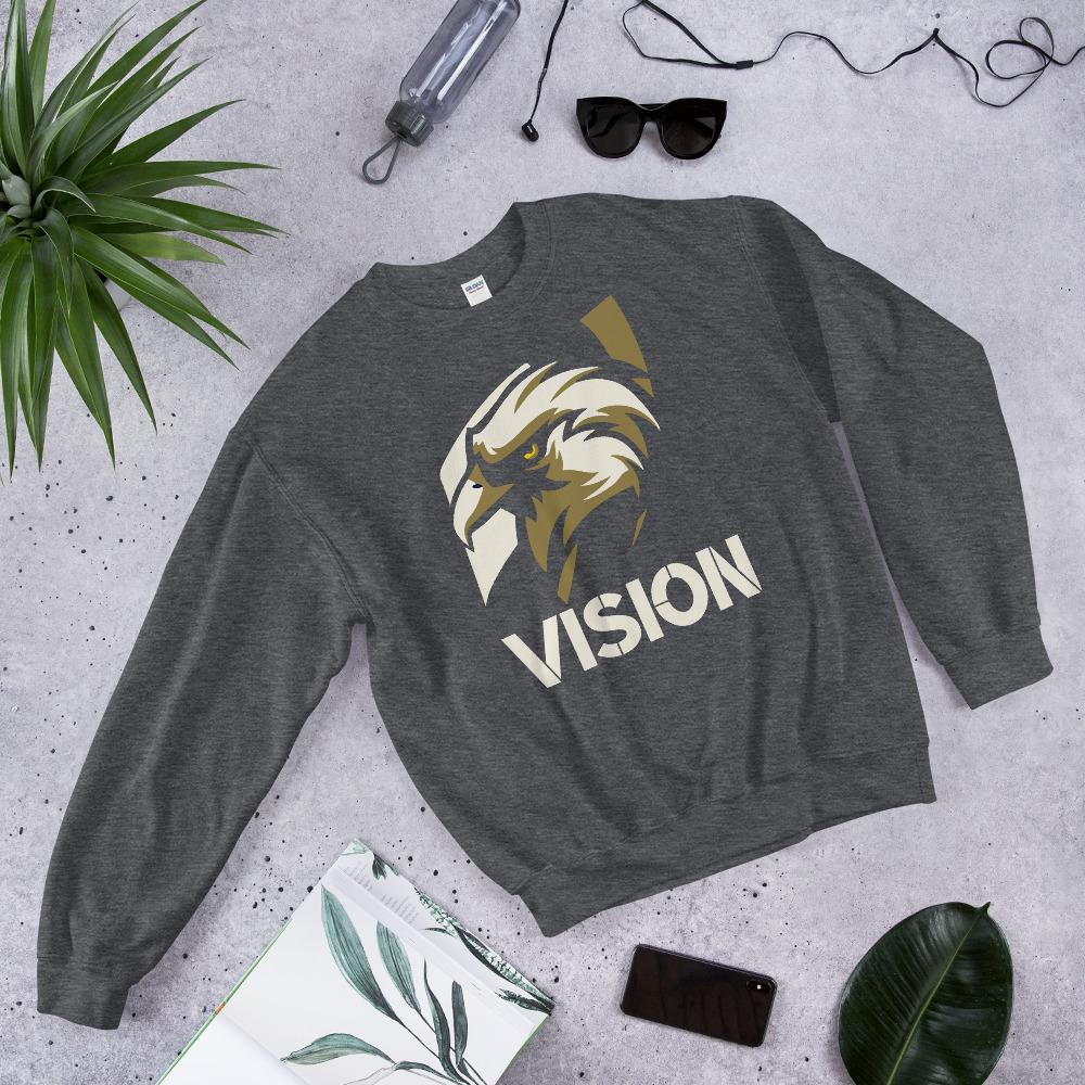 "Mens Sweatshirt ""Vision"" Dark HeatherS - Mperior: The Store For Entrepreneurs, Hustlers and Achievers"