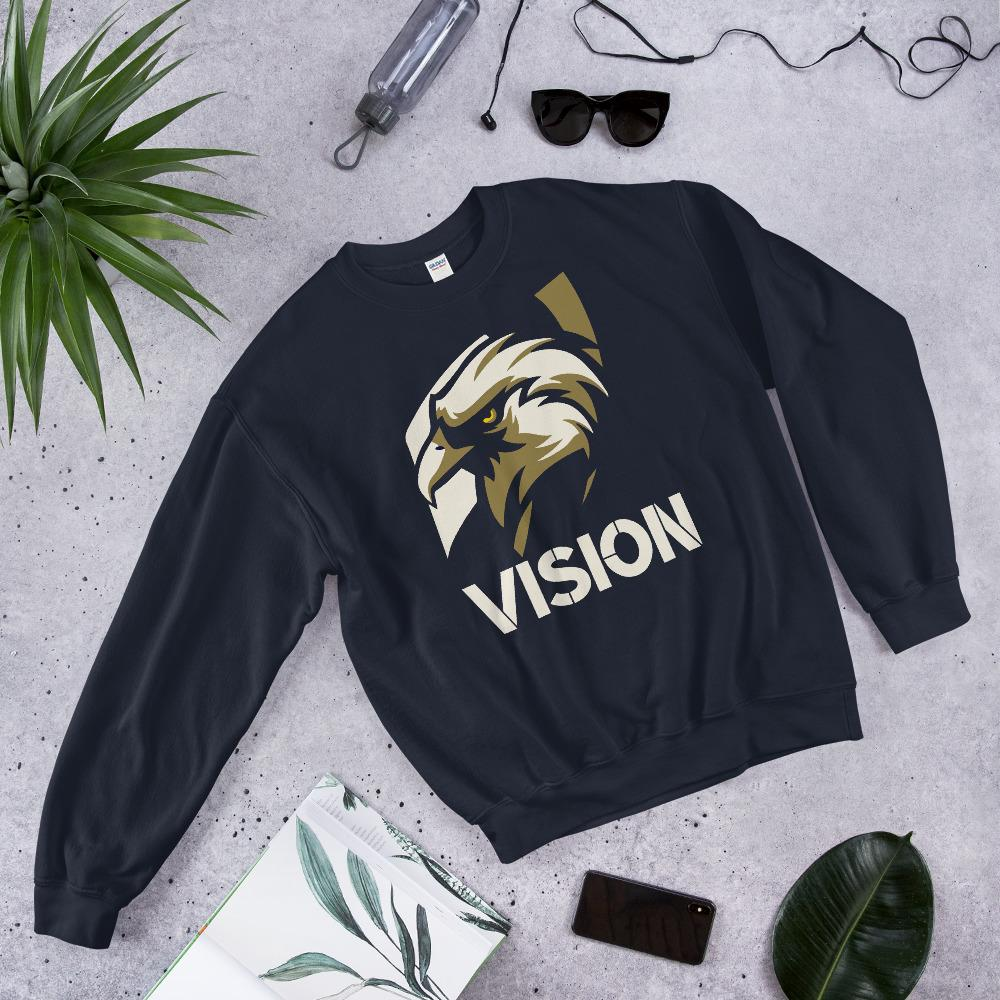 "Mens Sweatshirt ""Vision"" NavyS - Mperior: The Store For Entrepreneurs, Hustlers and Achievers"