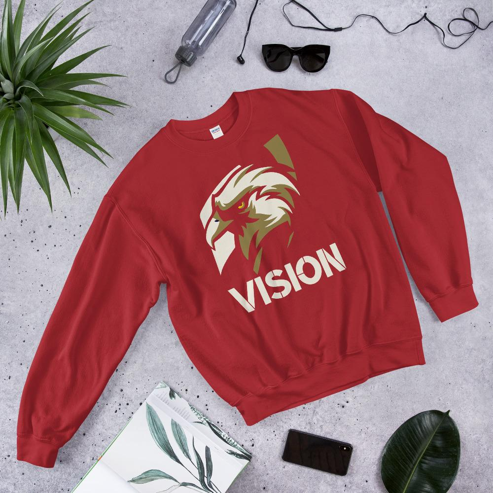 "Mens Sweatshirt ""Vision"" RedS - Mperior: The Store For Entrepreneurs, Hustlers and Achievers"