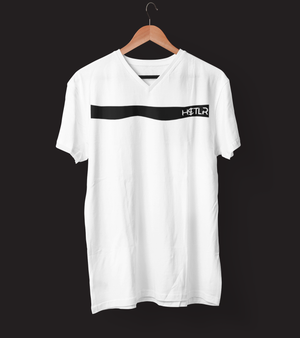 "Mens V-Neck T-Shirt ""H$TLR"" WhiteS - Mperior: The Store For Entrepreneurs, Hustlers and Achievers"