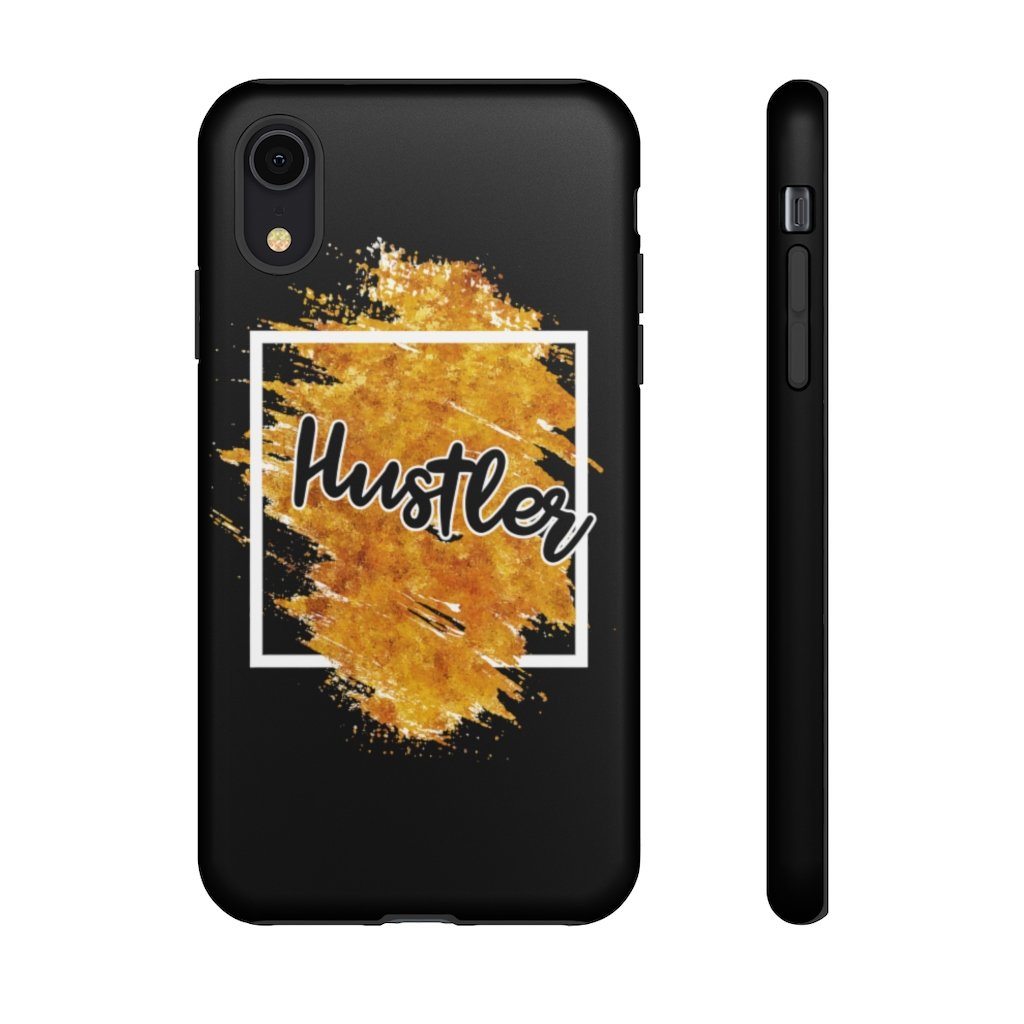 "Phone Case ""The Hustler"" Orange EditionPhone Case iPhone XRMatte - Mperior: The Store For Entrepreneurs, Hustlers and Achievers"