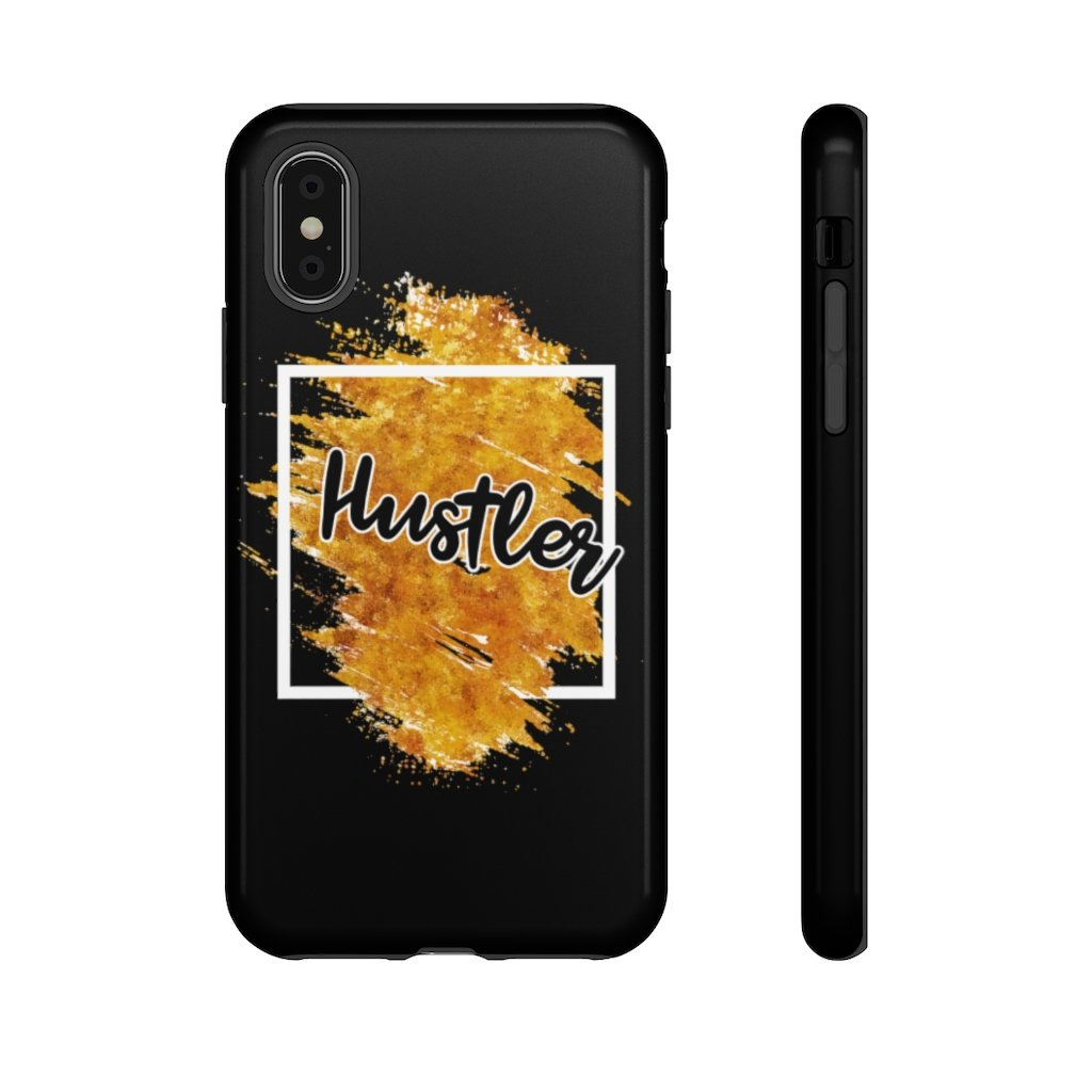 "Phone Case ""The Hustler"" Orange EditionPhone Case iPhone XSGlossy - Mperior: The Store For Entrepreneurs, Hustlers and Achievers"