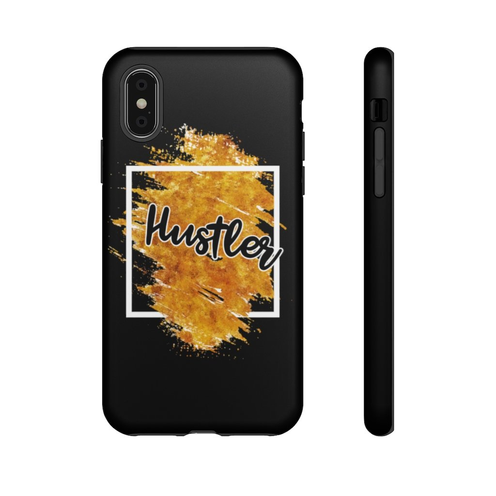 "Phone Case ""The Hustler"" Orange EditionPhone Case iPhone XSMatte - Mperior: The Store For Entrepreneurs, Hustlers and Achievers"
