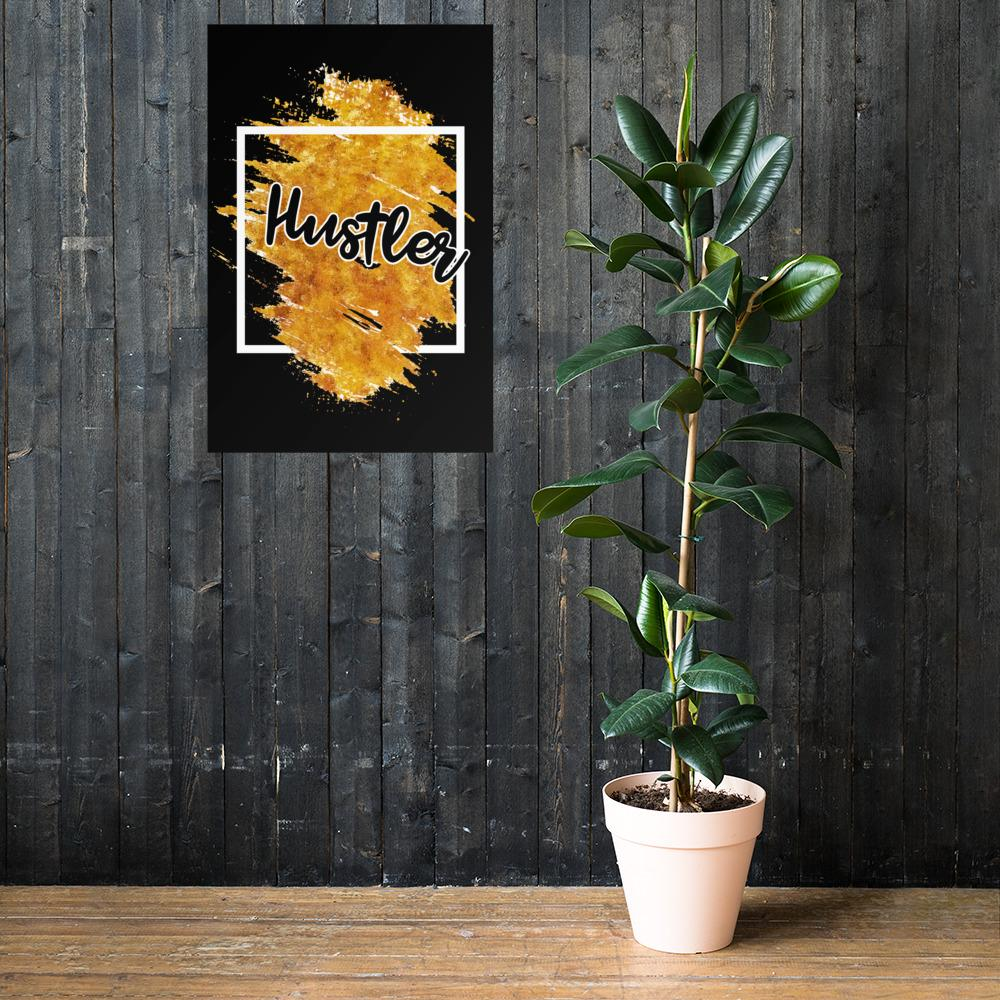 "Poster ""Hustler"" Orange Edition 24×36 - Mperior: The Store For Entrepreneurs, Hustlers and Achievers"