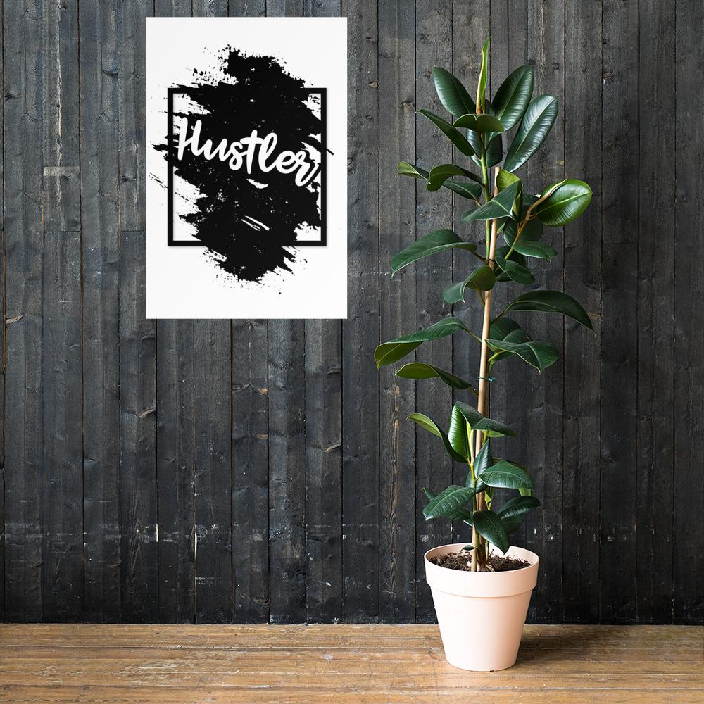 "Poster ""The Hustler"" Black & White Edition 24×36 - Mperior: The Store For Entrepreneurs, Hustlers and Achievers"