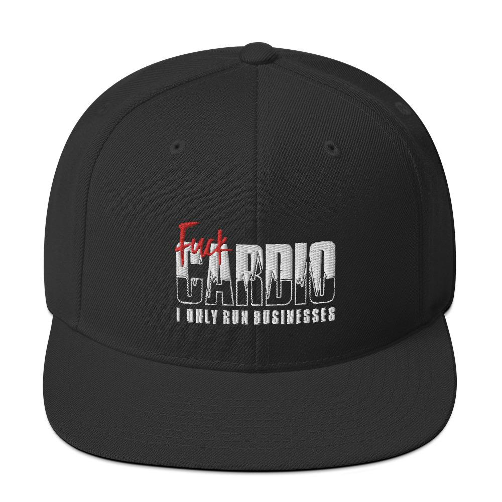 "Snapback ""Fuck Cardio"" Black - Mperior: The Store For Entrepreneurs, Hustlers and Achievers"