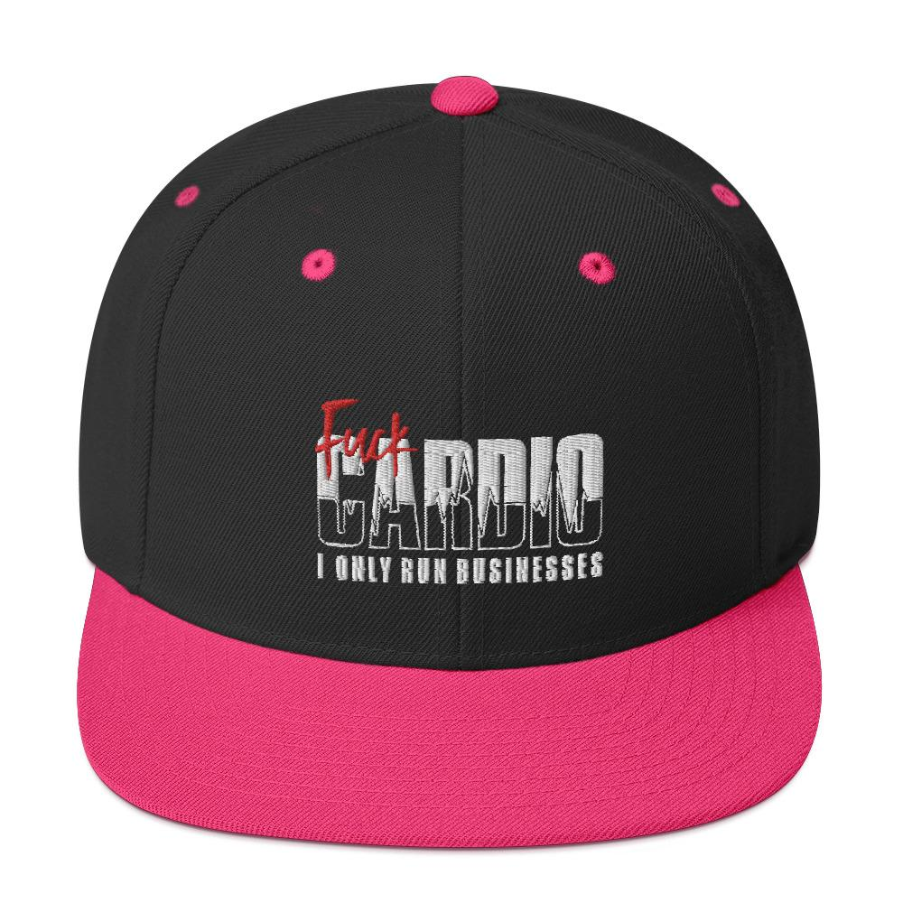 "Snapback ""Fuck Cardio"" Black/ Neon Pink - Mperior: The Store For Entrepreneurs, Hustlers and Achievers"