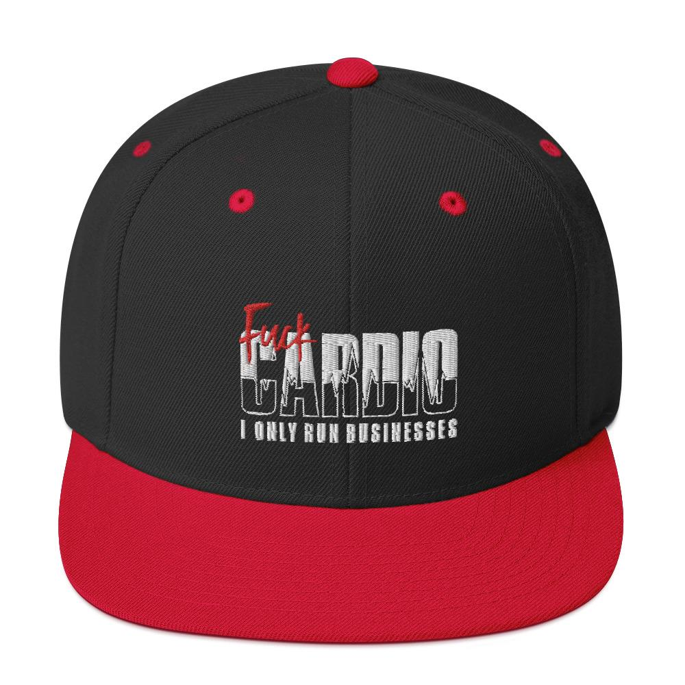 "Snapback ""Fuck Cardio"" Black/ Red - Mperior: The Store For Entrepreneurs, Hustlers and Achievers"