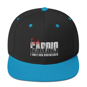 "Snapback ""Fuck Cardio"" Black/ Teal - Mperior: The Store For Entrepreneurs, Hustlers and Achievers"