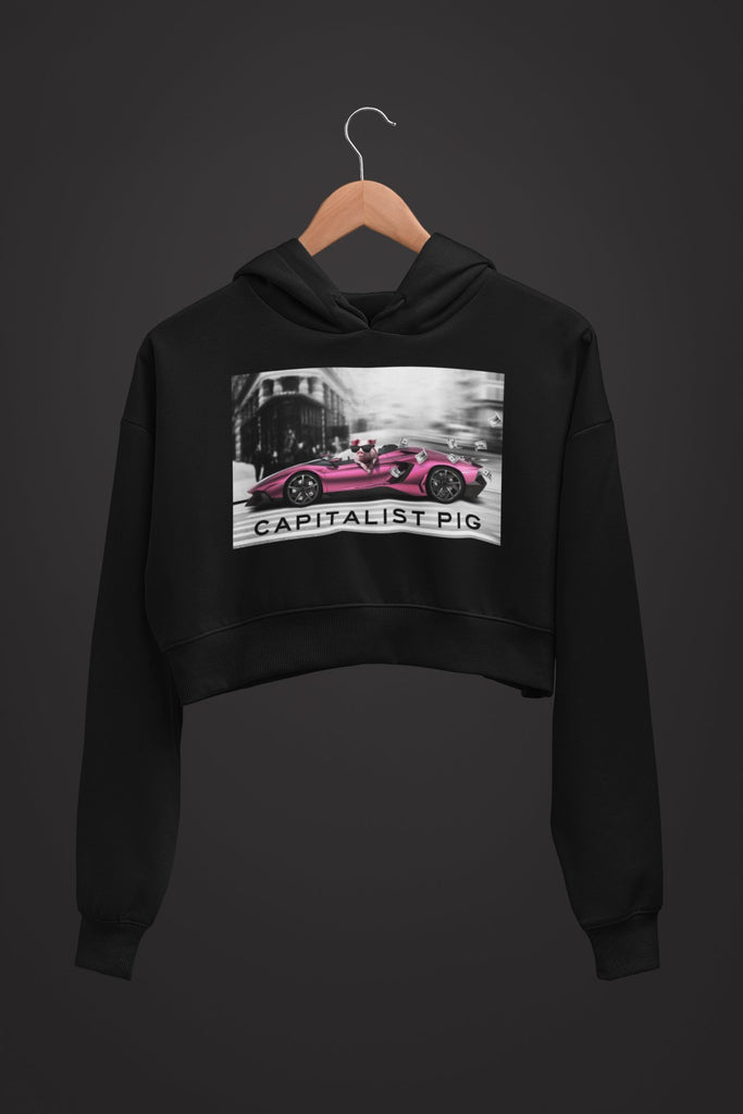 "Womens Crop Hoodie ""Capitalist"" S - Mperior: The Store For Entrepreneurs, Hustlers and Achievers"