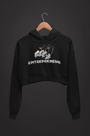 "Womens Crop Hoodie ""Claws"" S - Mperior: The Store For Entrepreneurs, Hustlers and Achievers"