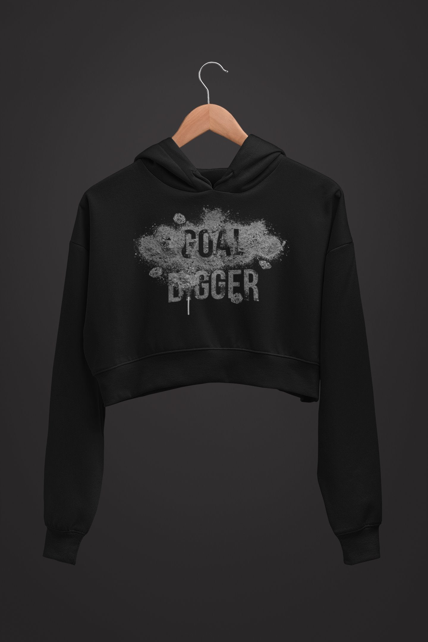 "Womens Crop Hoodie ""GoalDigger"" - Mperior: The Store For Entrepreneurs, Hustlers and Achievers"