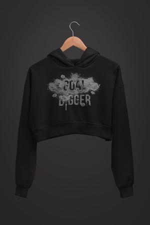 "Womens Crop Hoodie ""GoalDigger"" S - Mperior: The Store For Entrepreneurs, Hustlers and Achievers"