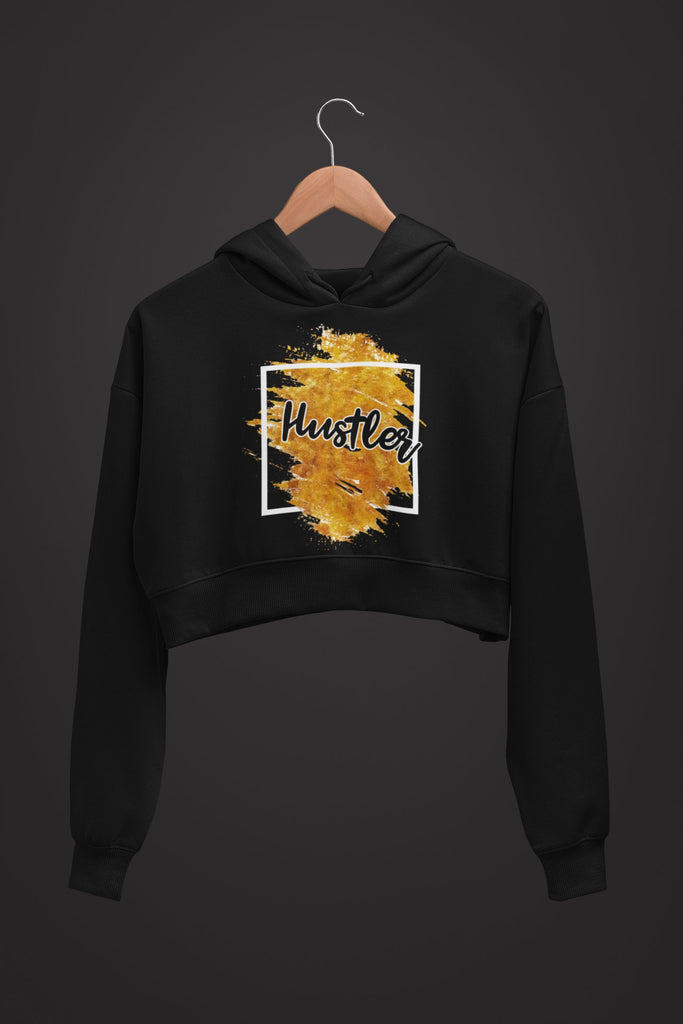 "Womens Crop Hoodie ""Hustler"" Orange S - Mperior: The Store For Entrepreneurs, Hustlers and Achievers"