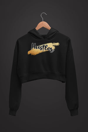 "Womens Crop Hoodie ""HustlerX"" S - Mperior: The Store For Entrepreneurs, Hustlers and Achievers"