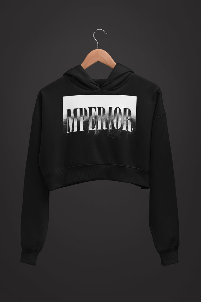 "Womens Crop Hoodie ""Transformation"" S - Mperior: The Store For Entrepreneurs, Hustlers and Achievers"