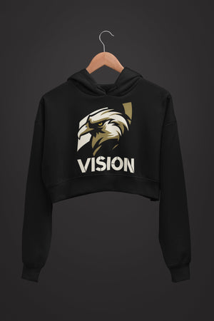 "Womens Crop Hoodie ""Vision"" S - Mperior: The Store For Entrepreneurs, Hustlers and Achievers"