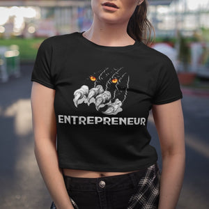 "Womens Crop Tee ""Claws"" XS/SM - Mperior: The Store For Entrepreneurs, Hustlers and Achievers"