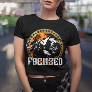"Womens Crop Tee ""Focused"" - Mperior: The Store For Entrepreneurs, Hustlers and Achievers"