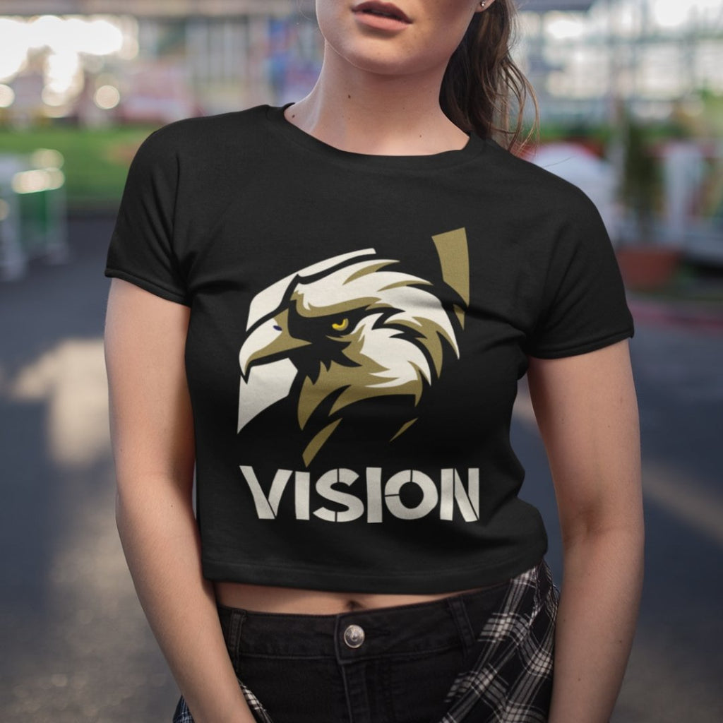 "Womens Crop Tee ""Vision"" XS/SM - Mperior: The Store For Entrepreneurs, Hustlers and Achievers"