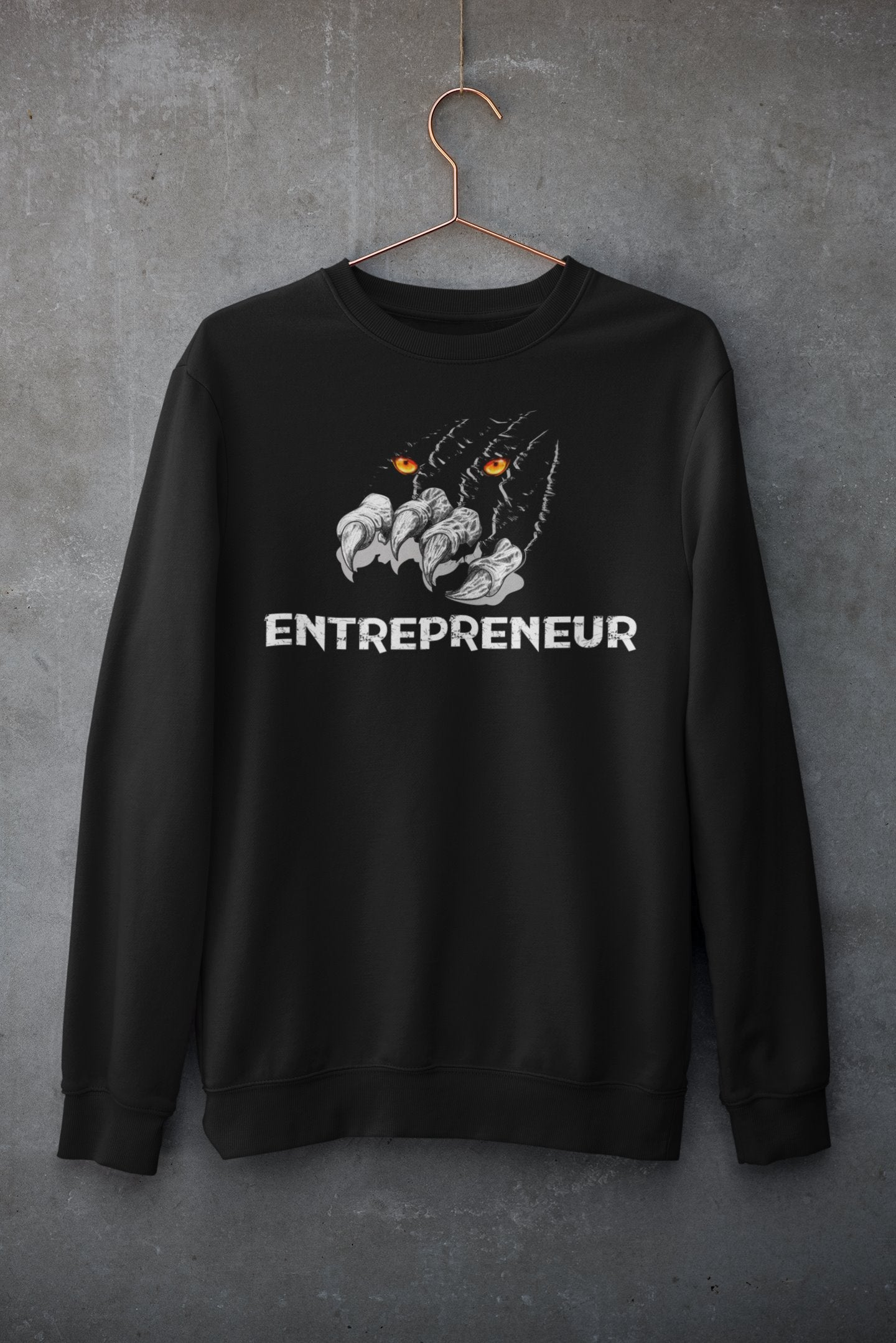 "Womens Oversize Sweatshirt ""Claws"" BlackS - Mperior: The Store For Entrepreneurs, Hustlers and Achievers"