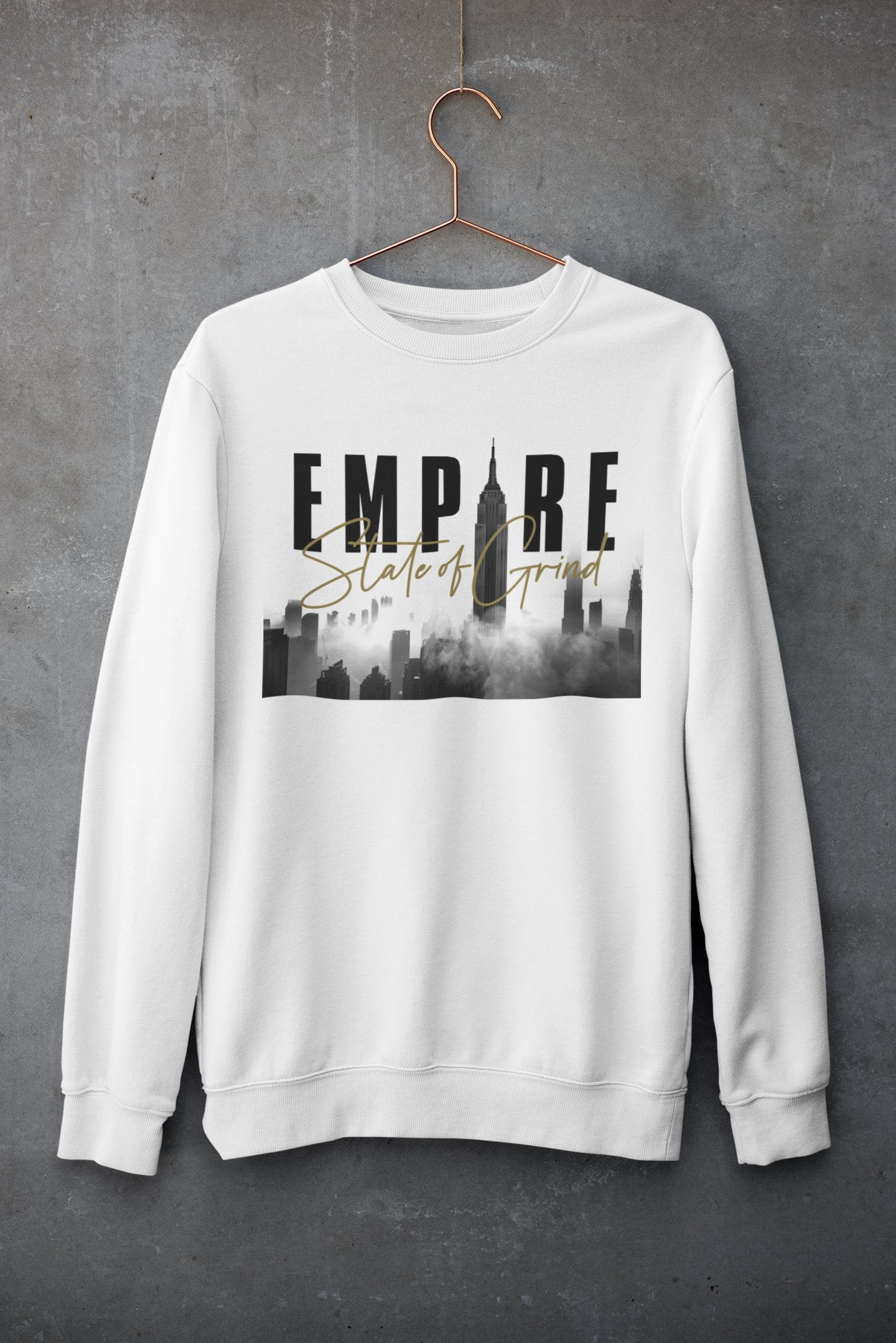 "Womens Oversize Sweatshirt ""Legacy"" WhiteS - Mperior: The Store For Entrepreneurs, Hustlers and Achievers"
