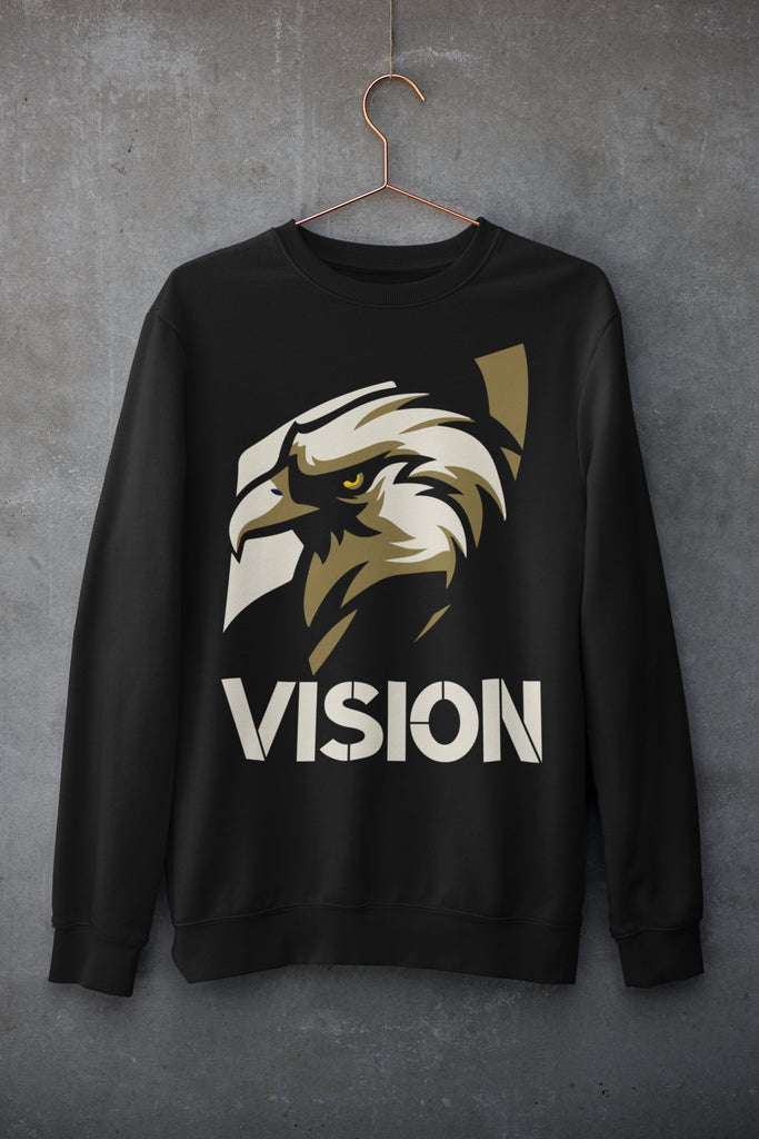 "Womens Oversize Sweatshirt ""Vision"" BlackS - Mperior: The Store For Entrepreneurs, Hustlers and Achievers"