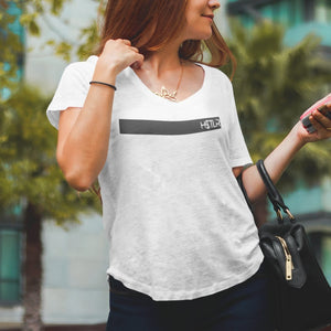 "Womens Scoopneck T-Shirt ""H$TLR"" WhiteM - Mperior: The Store For Entrepreneurs, Hustlers and Achievers"