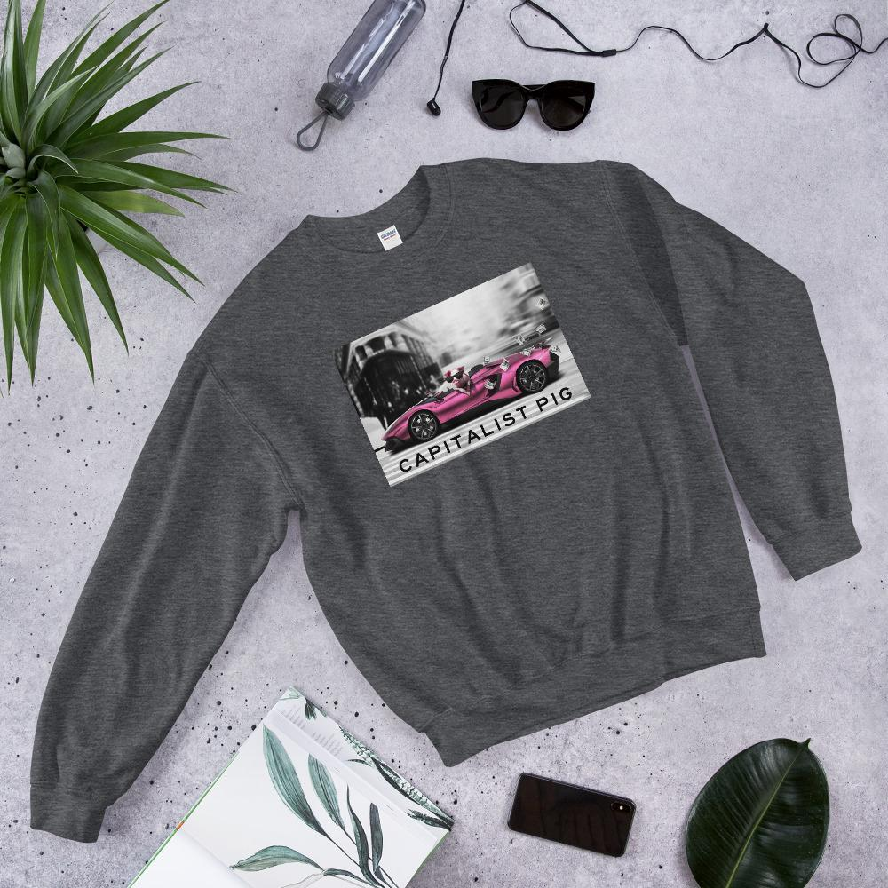 "Womens Sweatshirt ""Capitalist"" Dark HeatherS - Mperior: The Store For Entrepreneurs, Hustlers and Achievers"
