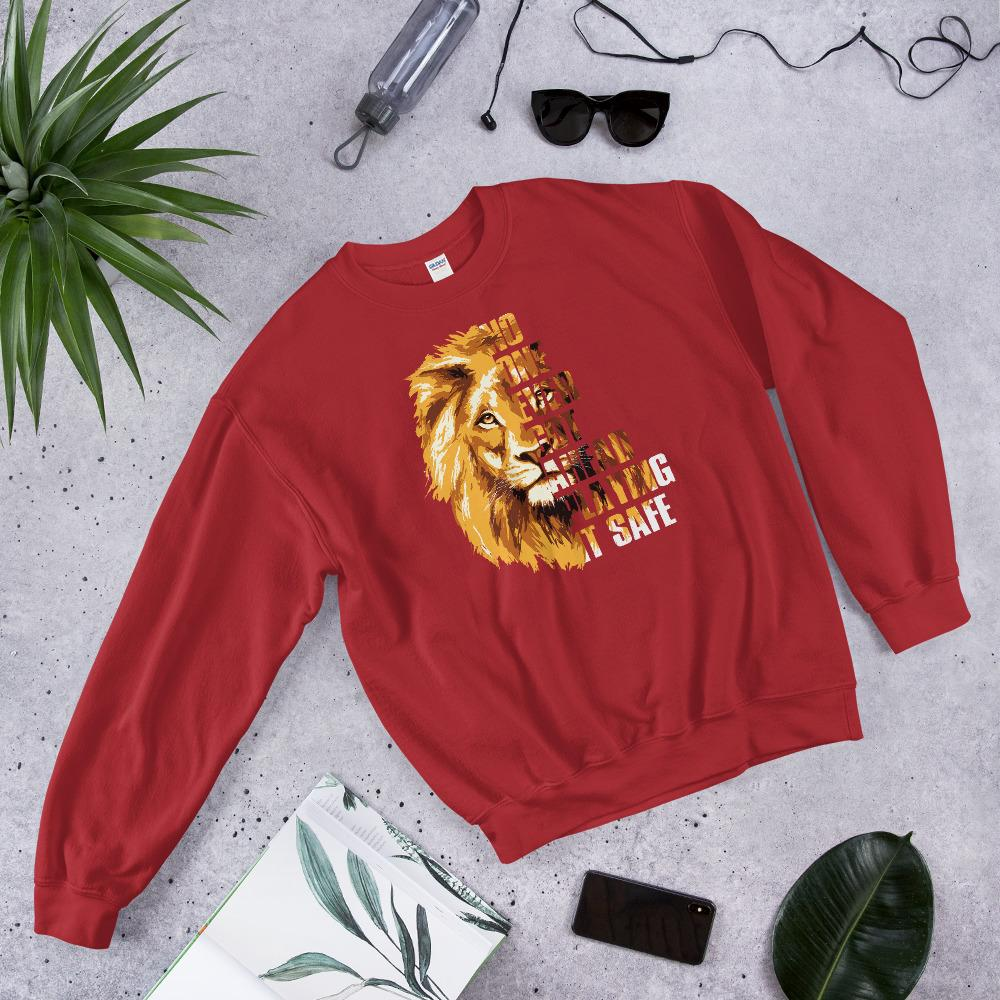 "Womens Sweatshirt ""GetAhead"" RedS - Mperior: The Store For Entrepreneurs, Hustlers and Achievers"