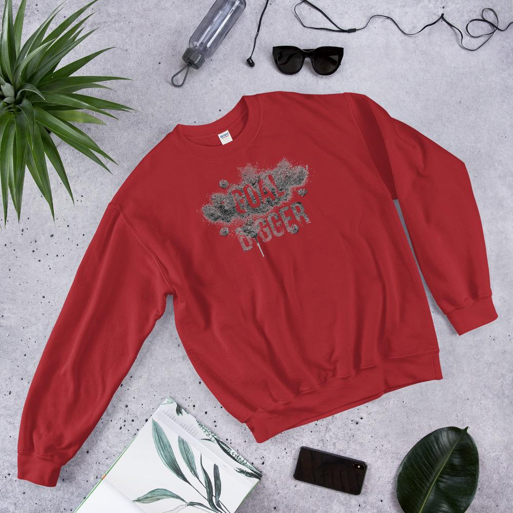 "Womens Sweatshirt ""GoalDigger"" RedS - Mperior: The Store For Entrepreneurs, Hustlers and Achievers"