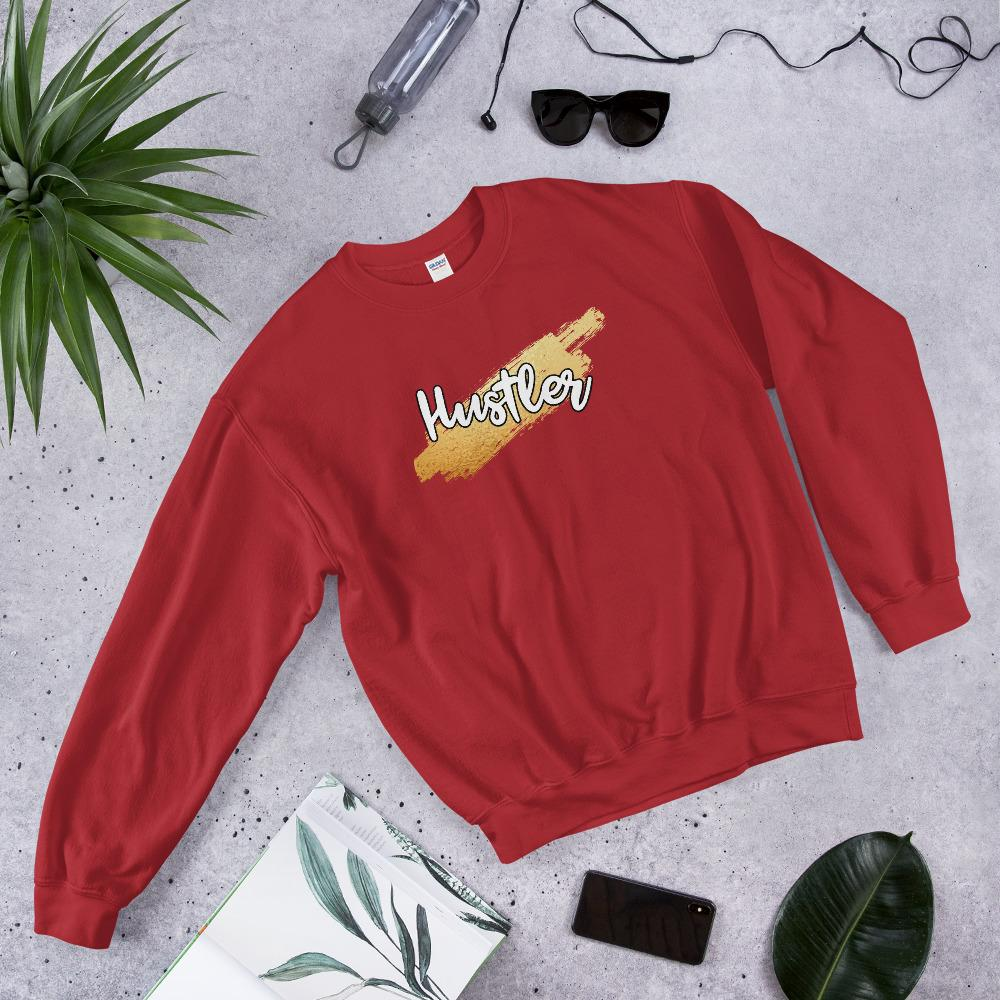 "Womens Sweatshirt ""HustlerX"" RedS - Mperior: The Store For Entrepreneurs, Hustlers and Achievers"