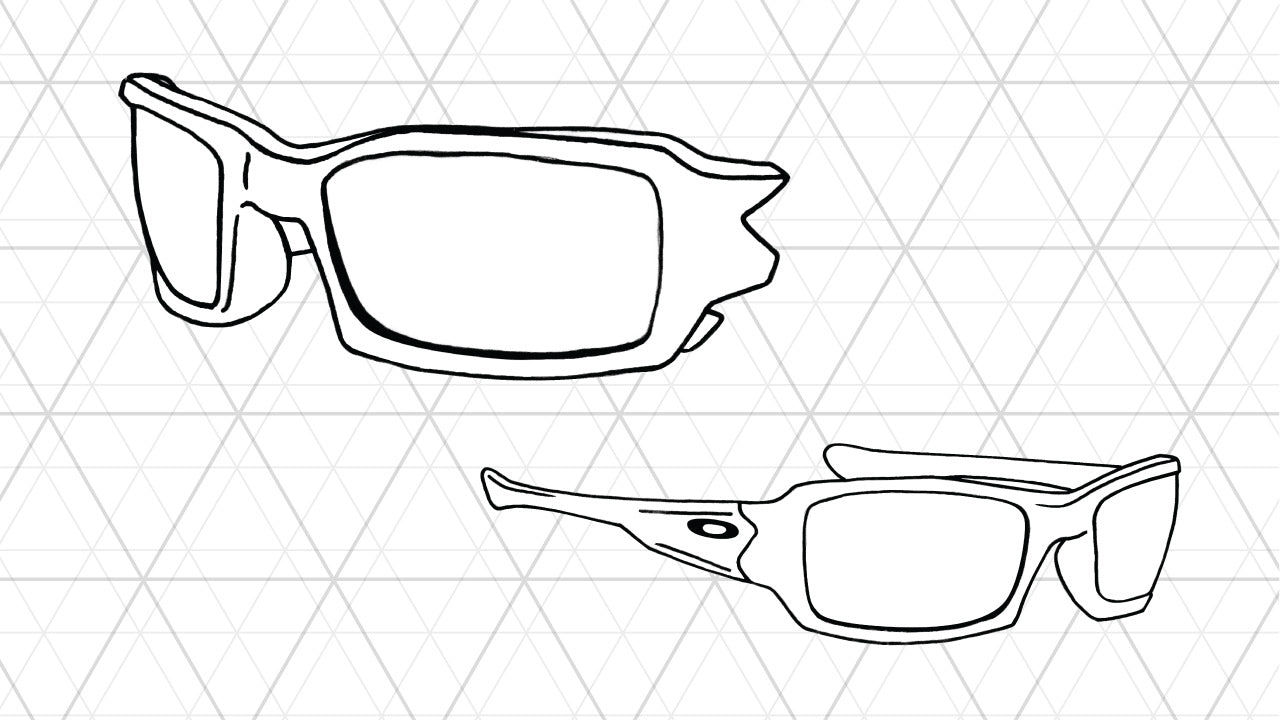 Sketch of Oakley Fives 3.0 sunglasses