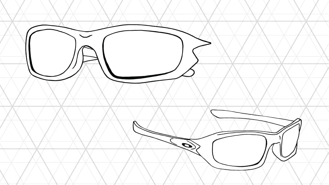 Sketch of Oakley Fives 4.0 sunglasses