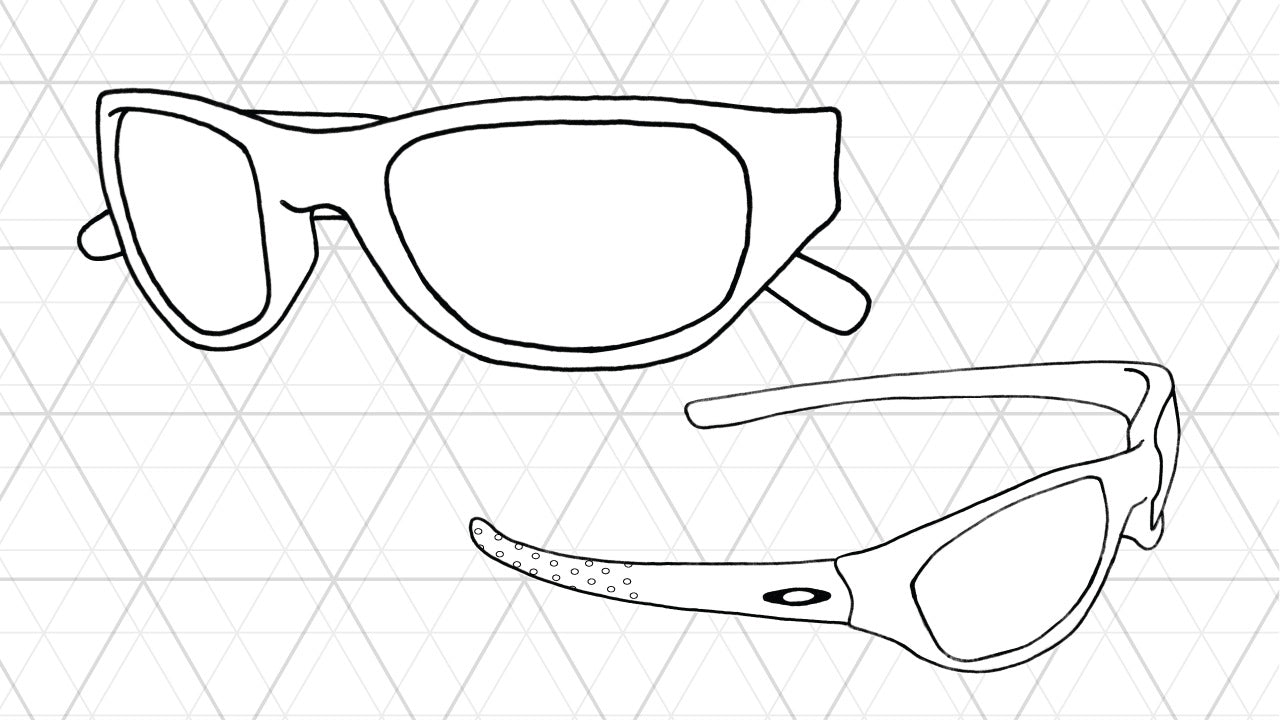 Sketch of Oakley Fives sunglasses