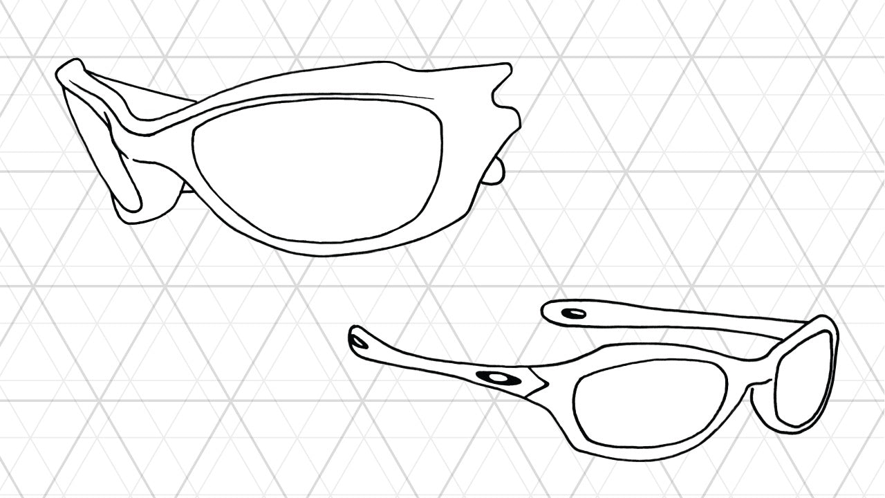 Sketch of Oakley Fives XS sunglasses