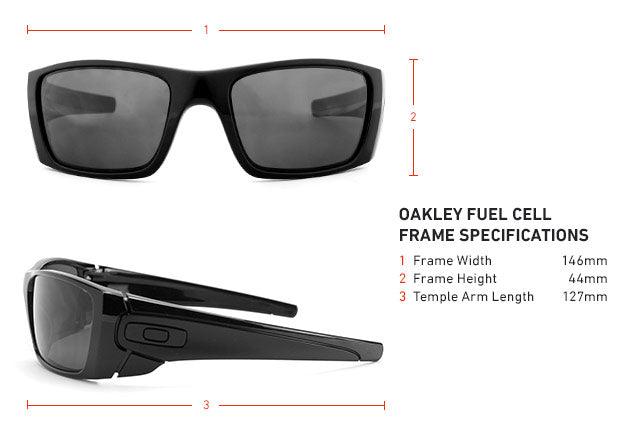 Oakley Fuel Cell Frame Specifications, Dimensions, and Measurements