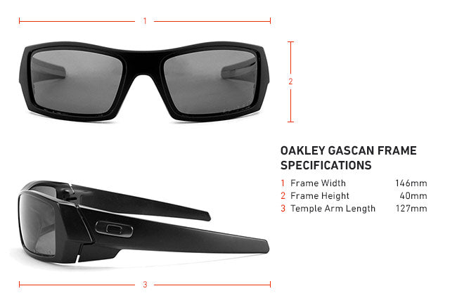 Oakley Gascan Frame Specifications, Dimensions, and Measurements