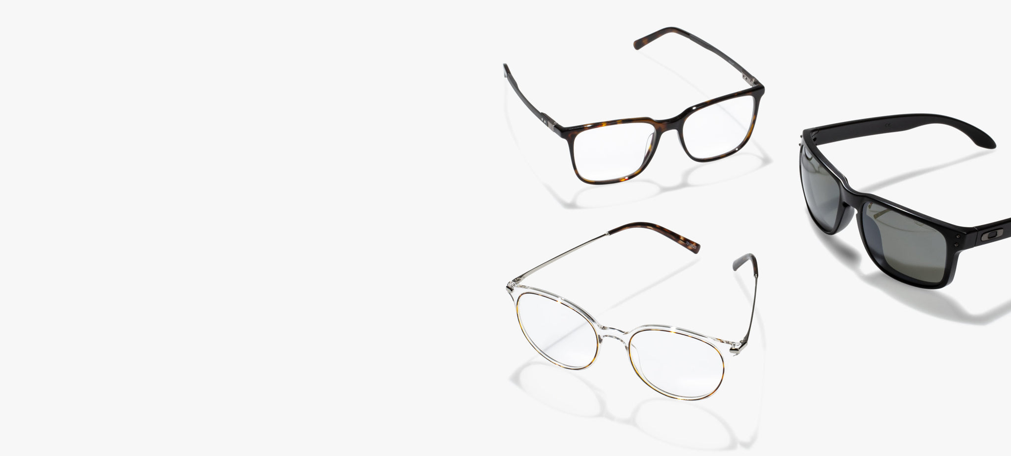 Three glasses with Revant prescription lenses