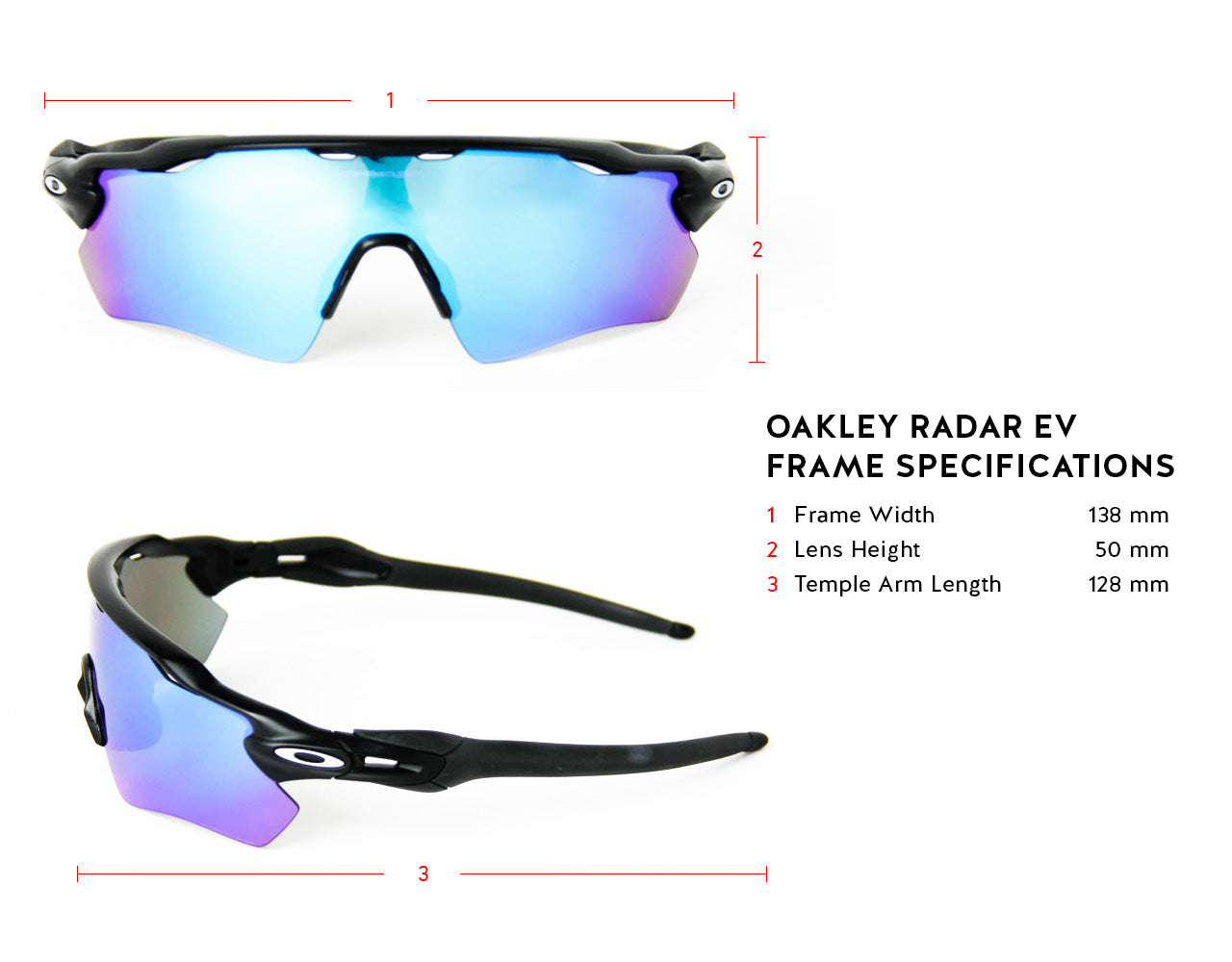 Oakley Radar EV Frame Specifications
