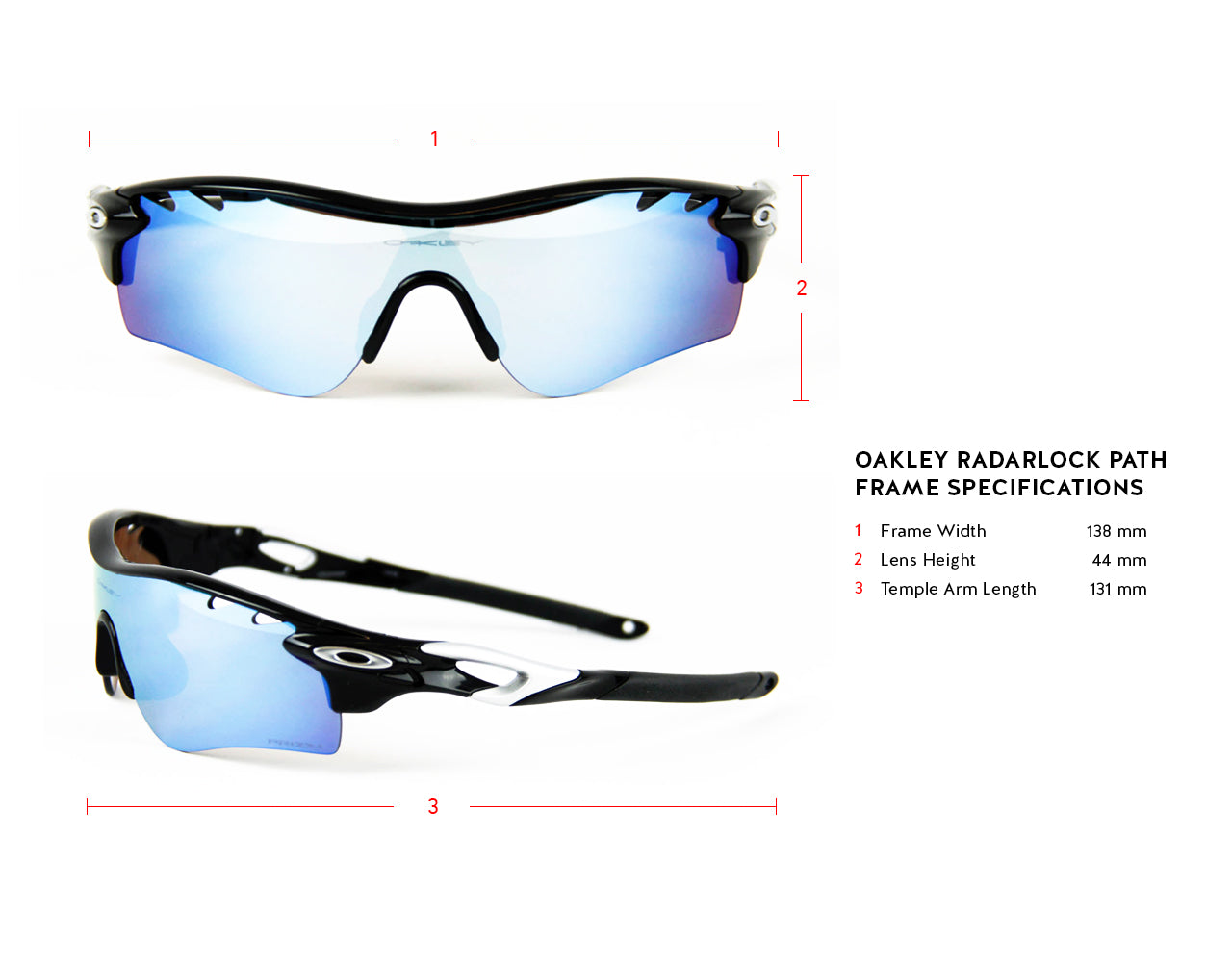 Oakley RadarLock Path Frame Specifications