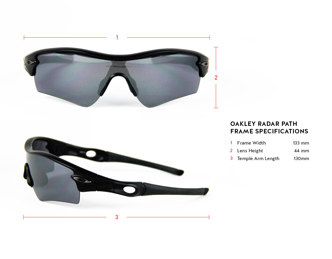 Oakley Radar Path Frame Specifications