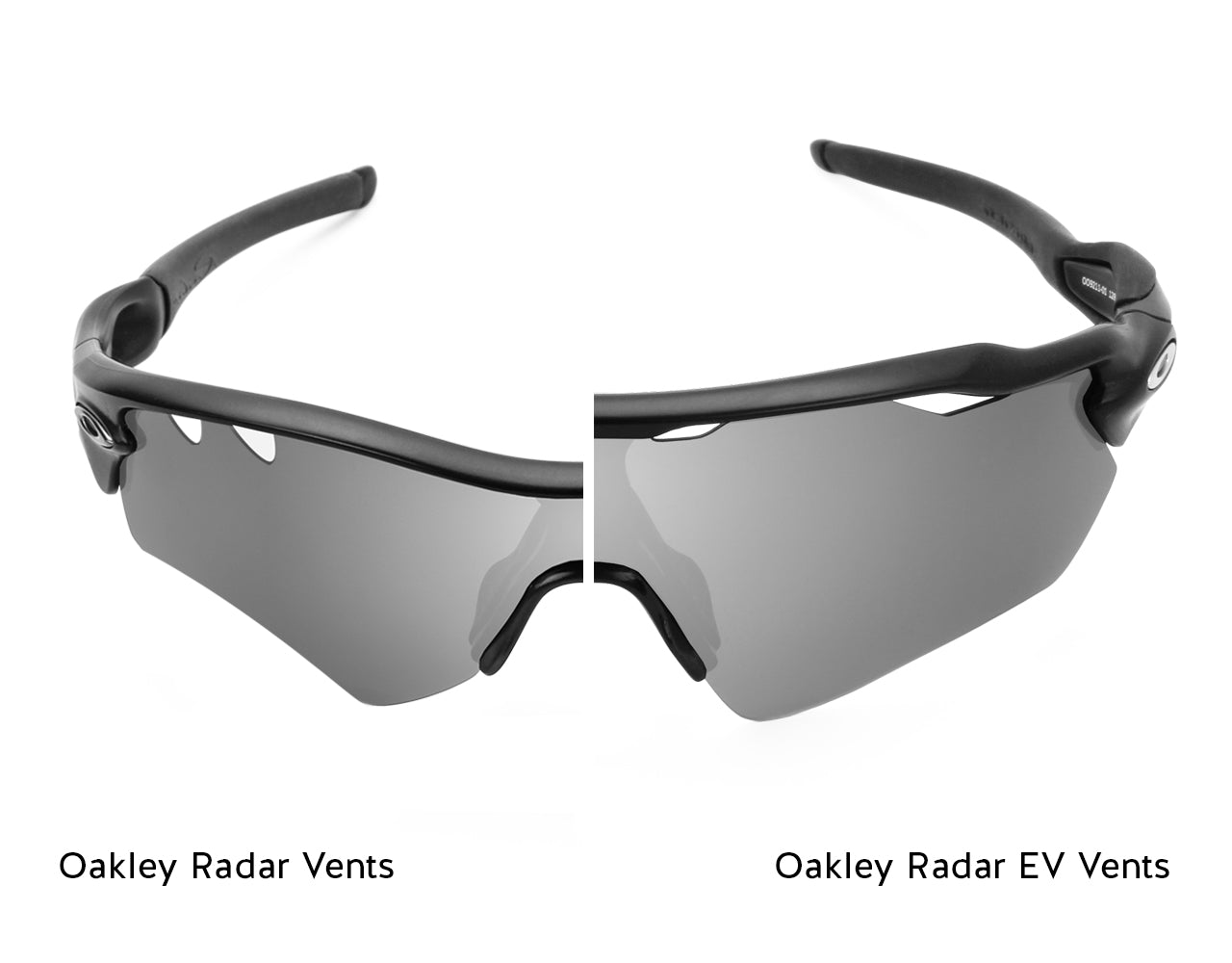 Oakley Radar Vents (left) vs. Oakley Radar EV Vents