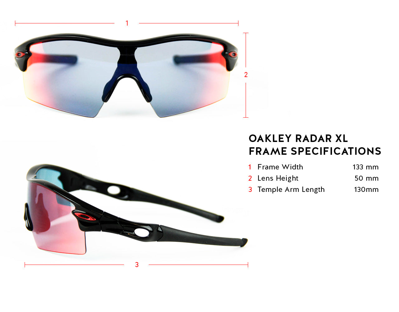 Oakley Radar XL Frame Specifications