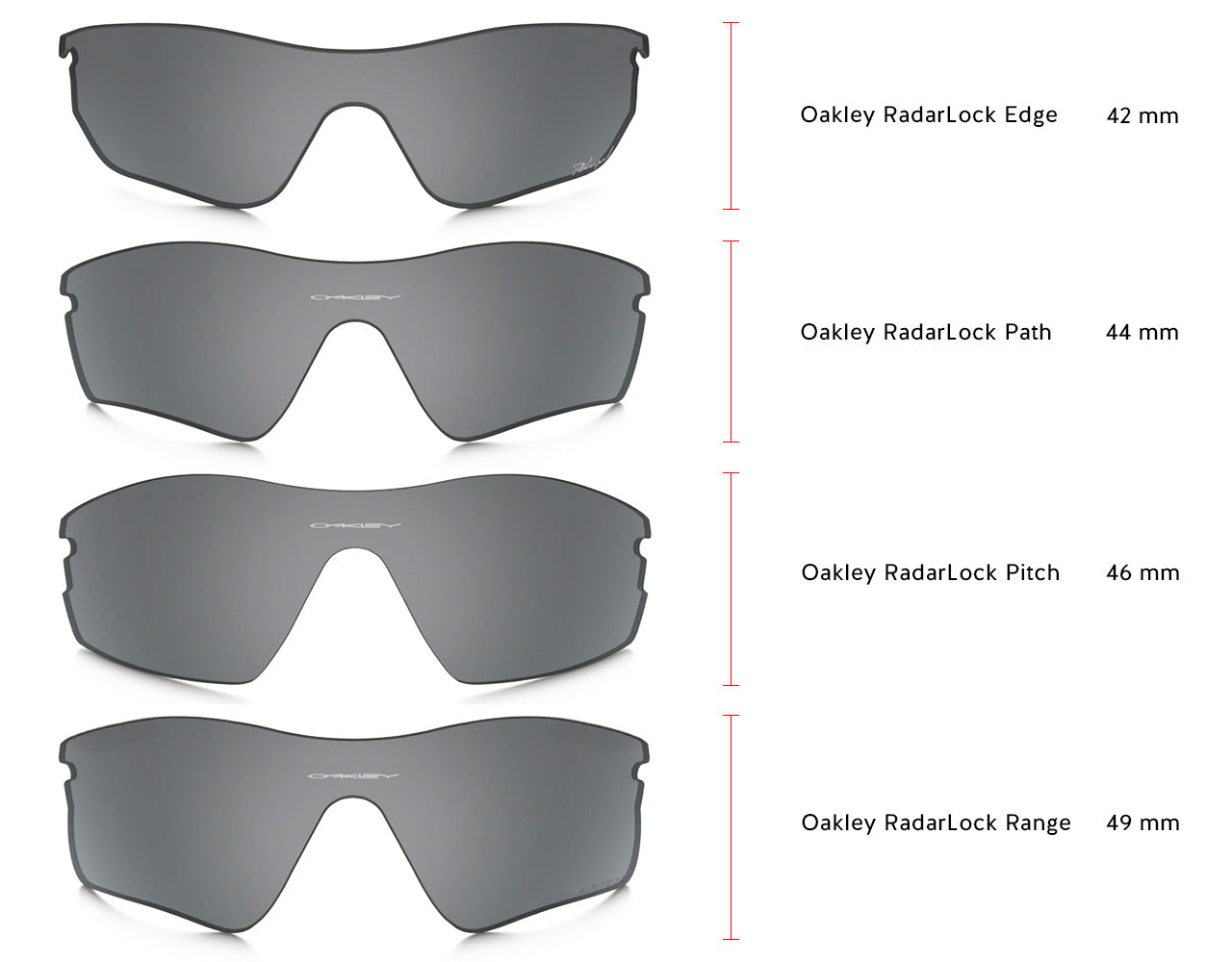 Oakley RadarLock Height Specs