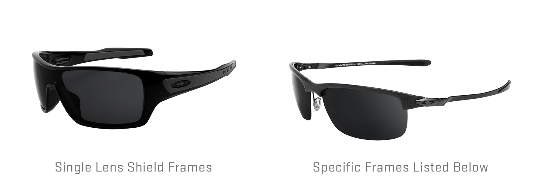 Shield frames and other specific frames listed below