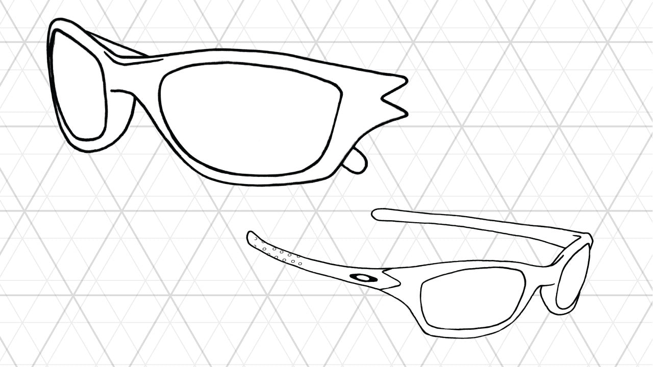 Sketch of Oakley Fives 2.0 sunglasses