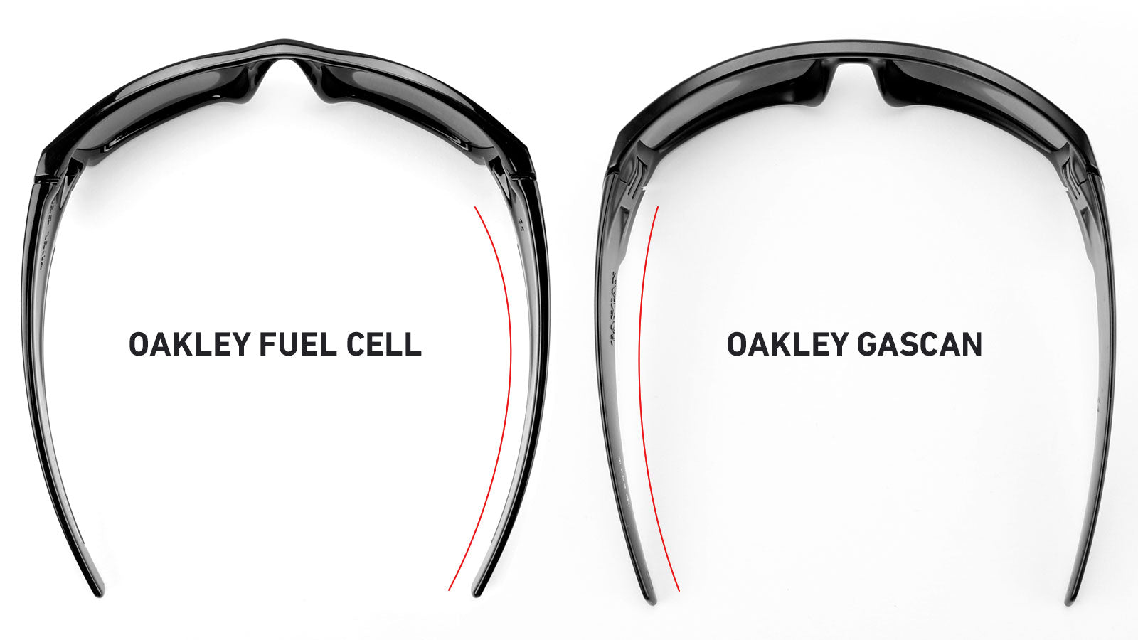Oakley Fuel Cell and Oakley Gascan curved arms