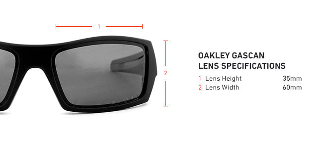 Oakley Gascan Lens Specifications, Dimensions, and Measurements
