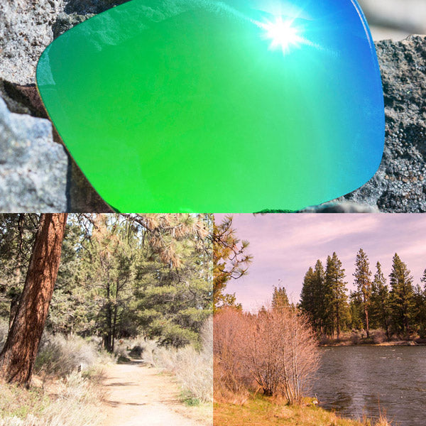 elite polarized emerald green lenses